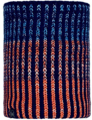 Шарф-труба вязаный с флисом Buff Neckwarmer Knitted Polar Iver Medieval Blue