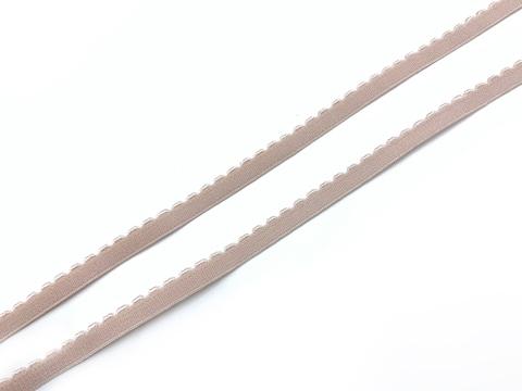 Резинка отделочная серебристый пион 8 мм Lauma