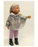 Комплект с пончо - На кукле. Одежда для кукол, пупсов и мягких игрушек.