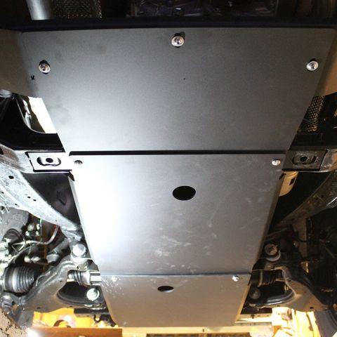 Установка защиты картера:  двигателя и трансмиссии