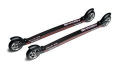 Профессиональные карбоновые лыжероллеры Shamov 04-03R для конькового хода, колеса каучук 100 мм
