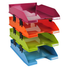 Лоток для бумаг EXACOMPTA  этажерка 4 лотка и 12 монтажных распорок