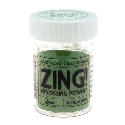 Пудра для эмбоссинга ZING! Metallic Green