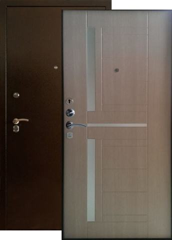Дверь входная Форт Форт Б-15, 2 замка, 1,8 мм  металл, (медь антик+капучино)