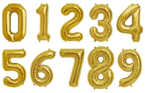 Цифра фольга золото. 86 см