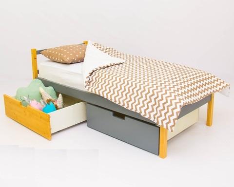 Кровать ФОРЕСТ дерево-графит