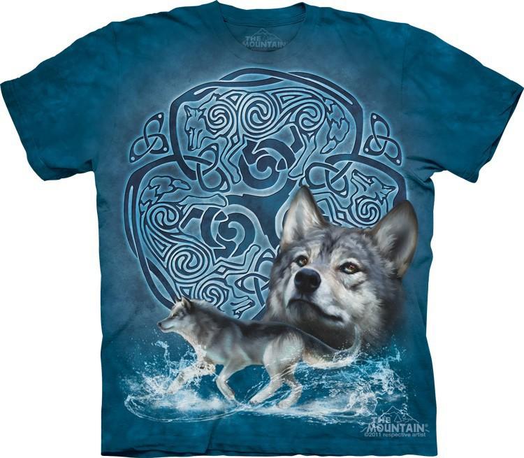 Футболка Mountain с изображением кельтского волка - Celtic Wolf