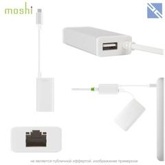 Разветвитель портов Moshi USB-C на Ethernet Gigabit