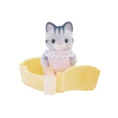 Sylvanian Families Набор «Малыш серый котенок» (3552)