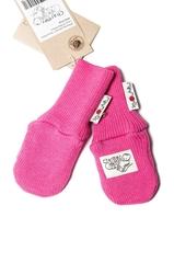 Рукавички двухслойные без пальца ManyMonths, 0-6/9 мес (50-68/74 см), Розовый (шерсть мериноса 100%)