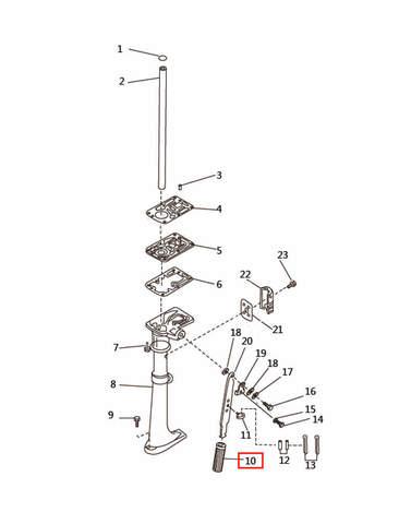 Резиновая рукоятка румпеля  для лодочного мотора T2,5 SEA-PRO (7-10)