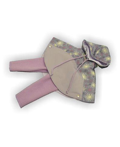 Комплект с пончо - Серый. Одежда для кукол, пупсов и мягких игрушек.