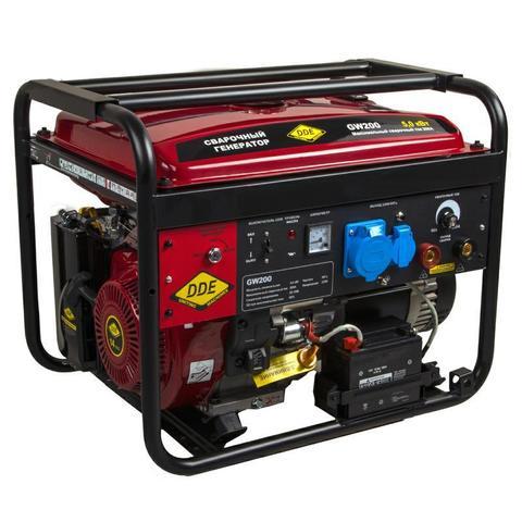 Генератор сварочный DDE GW200 (ток 50-200 А 1ф 5,0/5,5 кВт 98 кг дв-ль 14 л.с. элстарт)
