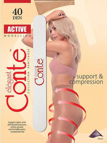 Колготки Active 40 XL (с пилочкой для ногтей) Conte