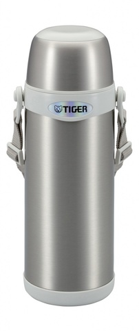 Термос классический Tiger MBI-A100 Clear Stainless White, 1,0 л