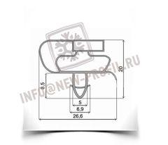 Уплотнитель 68*56 см для холодильника Атлант МХМ-1833 КШД-400/115 (морозильная камера) Профиль 021
