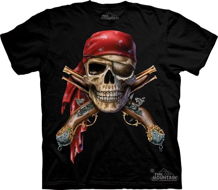 Футболка Mountain с изображением черепа и мушкетов - Skull & Muskets