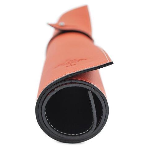 Коврик для чистки обуви La Cordonnerie, натуральная кожа (оранжевый)