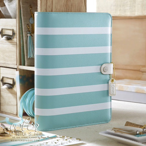 Планнер A5 BINDERS ONLY: Teal White by Websters Pages (коллекция 2016!)