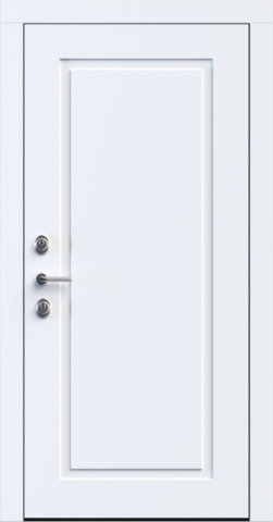 Входная дверь «NEO Classic 1» в цвете, Эмаль белая