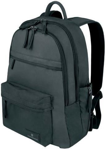 Качественный с гарантией прочный рюкзак чёрный объёмом 20 л из нейлона Versatek™ с наружным карманом для бутылки или зонтика VICTORINOX Altmont™ 3.0 Standard Backpack 32388401