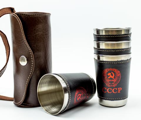 Подарочный набор стопок в чехле СССР