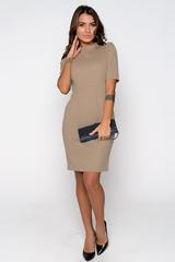 """Эффектное офисное платье приталенного силуэта. Ворот - """"стойка"""", рукав - """"грибок"""". Функциональные карманы, по спинке замок.  (Длина:  44-93см; 46-96см; 48-97см; 50-52 = 98см;)"""