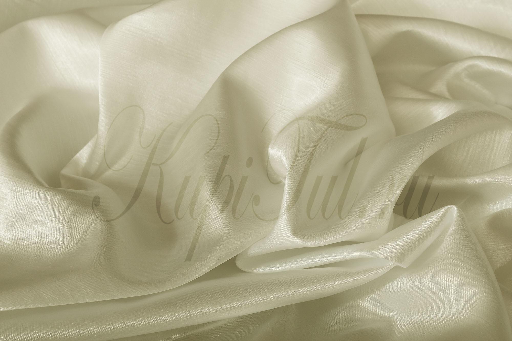 Длинные шторы. Leonardo (Молочный), однотонный шик-сатен.