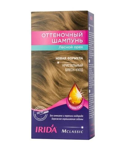 Irida Irida М classic Оттеночный шампунь для окраски волос Лесной орех 3*25мл