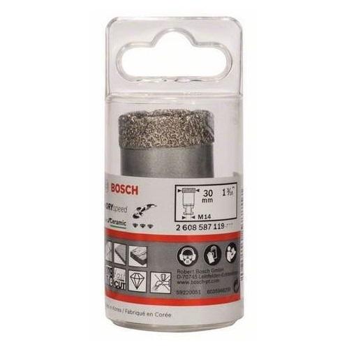 Алмазная коронка Bosch 30 мм сухое сверление для УШМ