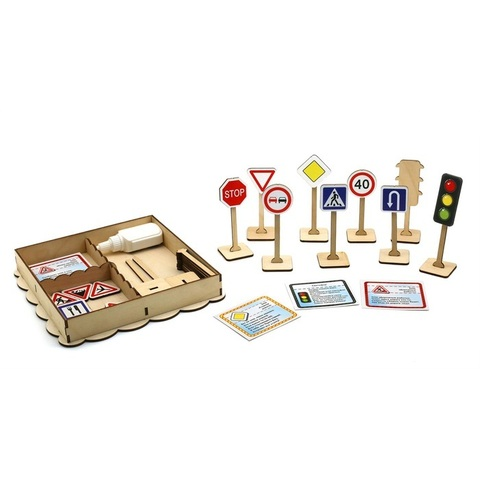 Набор дорожных знаков, с информационными карточками