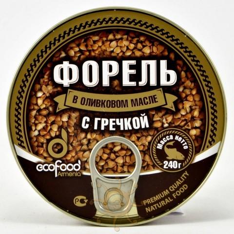 Форель в оливковом масле с гречкой Ecofood 240г