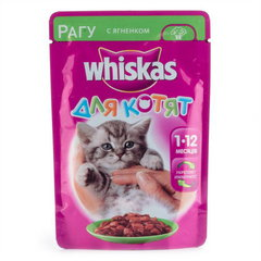 Корм для котят Whiskas «Рагу с ягненком» 85г