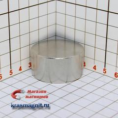 Неодимовый магнит диск 40*20 мм
