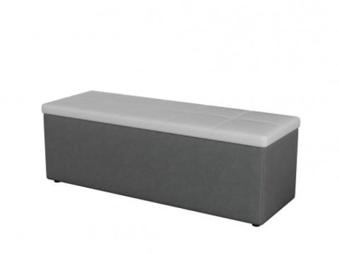 Пуф Orma Soft 2 двухместный Экокожа: Серый с белым