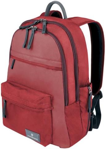 Качественный с гарантией прочный рюкзак красный объёмом 20 л из нейлона Versatek™ с наружным карманом для бутылки или зонтика VICTORINOX Altmont™ 3.0 Standard Backpack 32388403