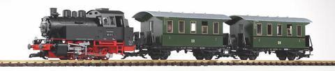 PIKO G 37125 Стартовый набор моделей железных дорог  Пассажирский состав с дымогенератором и звуковым декодером, 1:22,5