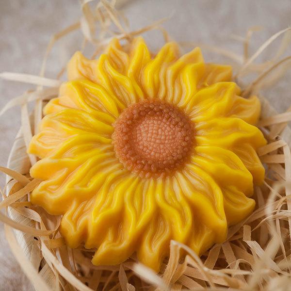 Пластиковая форма для мыла Подсолнух цветок