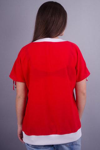 Деніз. Яскрава блуза великих розмірів. Червоний.