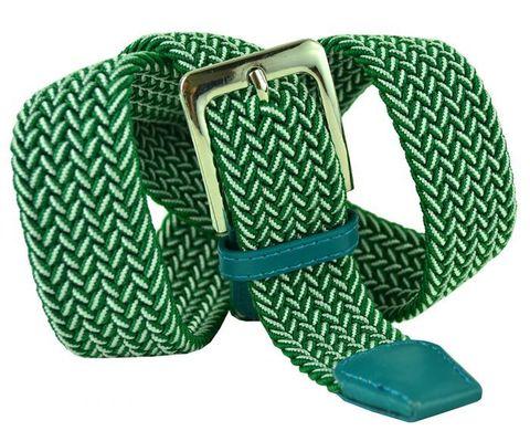 Ремень-резинка текстильный зелёный металлик 35 мм 35Rezinka-153