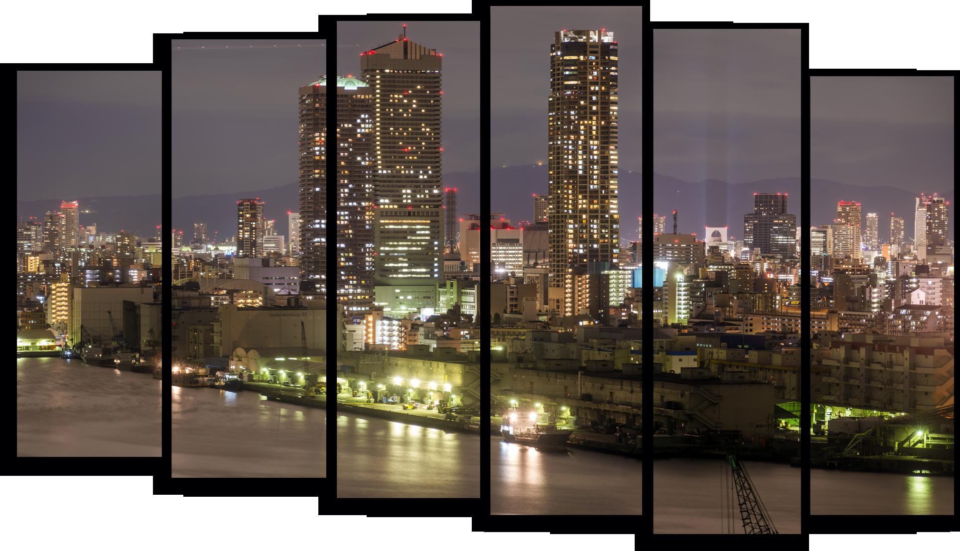 """Города Модульная картина """"Вечерний Нью Йорк"""" М795.png"""