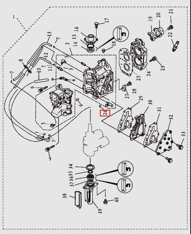 Хомут для лодочного мотора T9.8 Sea-PRO (2-26)