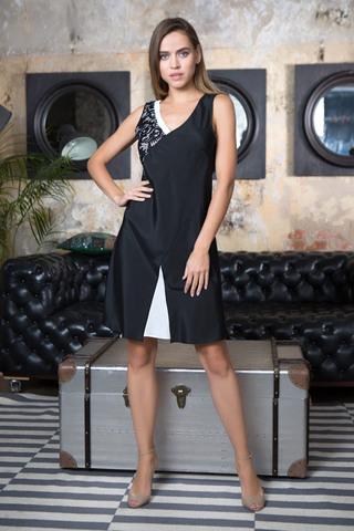 Платье домашнее женское черного цвета