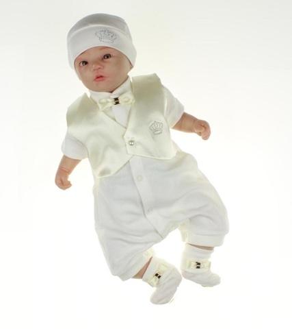 Нарядный костюм для мальчика на выписку из роддома Дени айвори