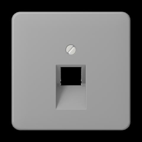 Накладка одинарной наклонной tel/comp розетки. Цвет Серый. JUNG CD. CD569-1UAGR
