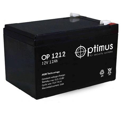 OP 1212 аккумулятор 12В/12Ач Optimus
