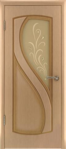 Дверь Владимирская фабрика дверей Грация 10ДО1, цвет светлый дуб, остекленная