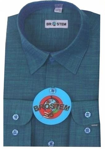 BROSTEM Рубашка для мальчика школьная 8052d морской волны
