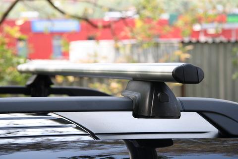 Багажник на автомобиль с рейлингом V-STAR, 120 см (черный) (BN3214BL)