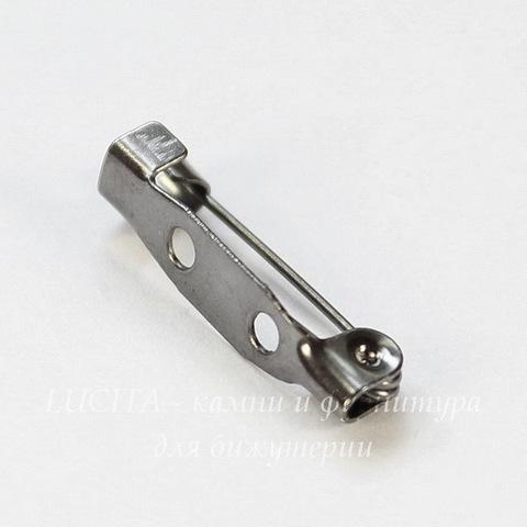 Основа для броши 20х5 мм (цвет - черный никель), 95-100 штук